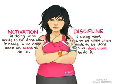 discipline afvallen