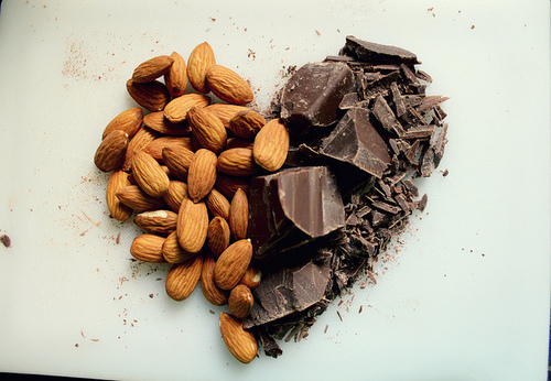 snacken-chocolade-amandelen
