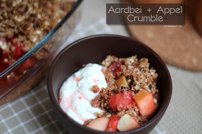 Recept-appel-aardbei-crumble-suikervrij-glutenvrij-voorkant