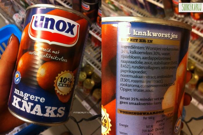 in welke producten zit geen suiker