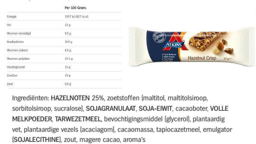 atkins reep voedingswaarde